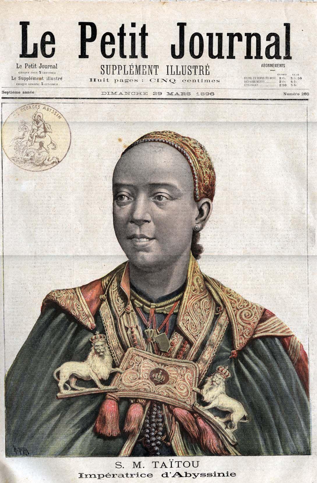 Empress Taytu, the wife of Ethiopian Emperor Menelik