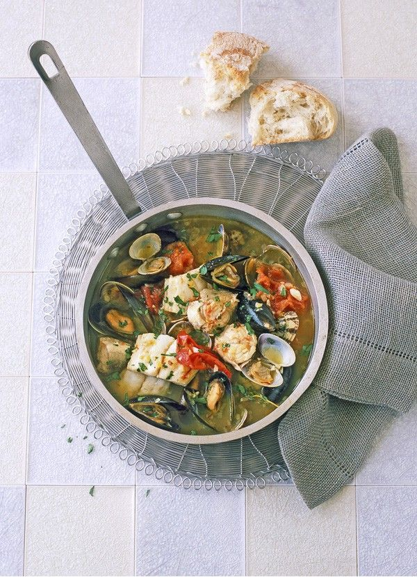 Seafood stew with saffron