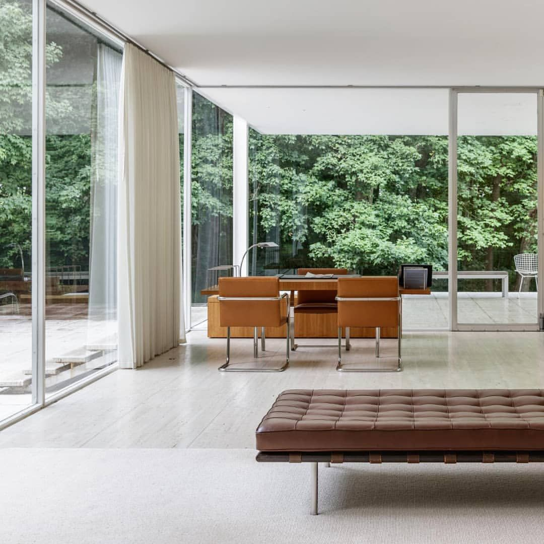 The Farnsworth House was designed and constructed by
