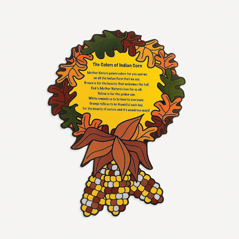 Indian Corn Worksheet For Preschool