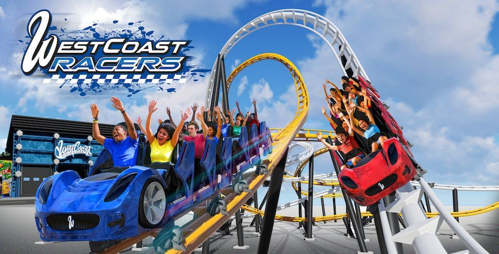 West Coast Racers World S First Racing Launch Coaster To Open At Six Flags Magic Mountain Six Flags New Roller Coaster Thrill Ride