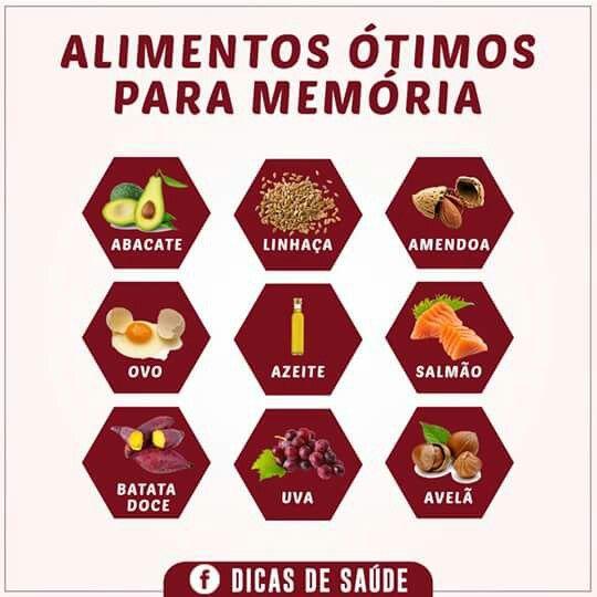Alimentos ótimos para memória!