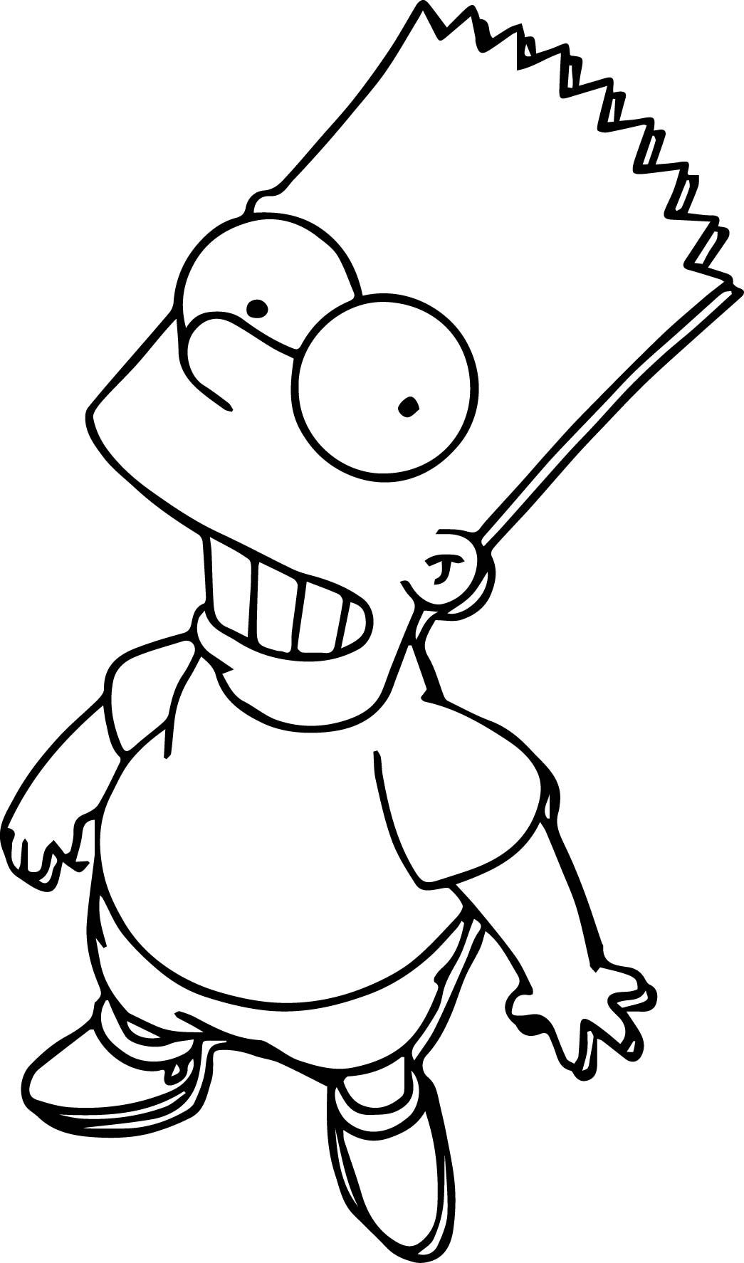 Awesome Bart The Simpsons Look Up Coloring Page Coloring Pages Hypebeast Iphone Wallpaper The Simpsons