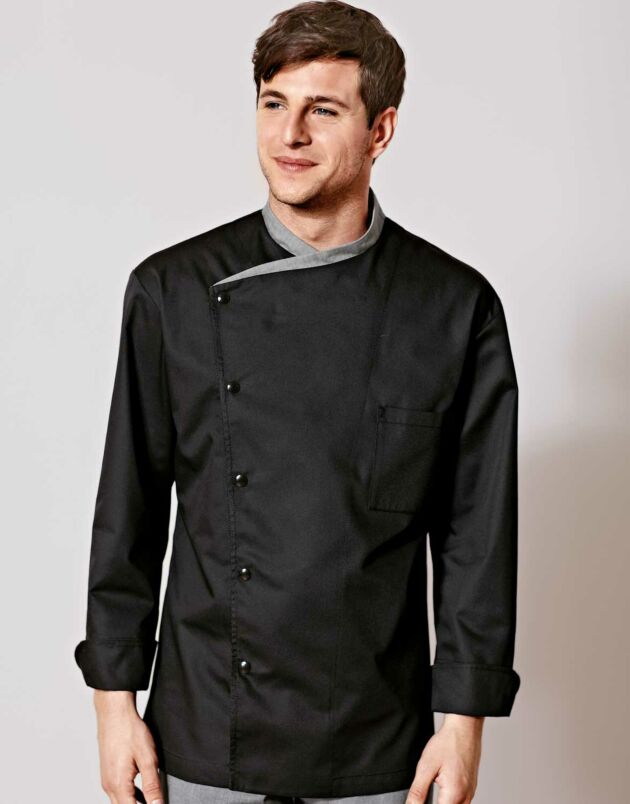 Juliuso Chef Jacket Black Long Sleeve in 2020 (With