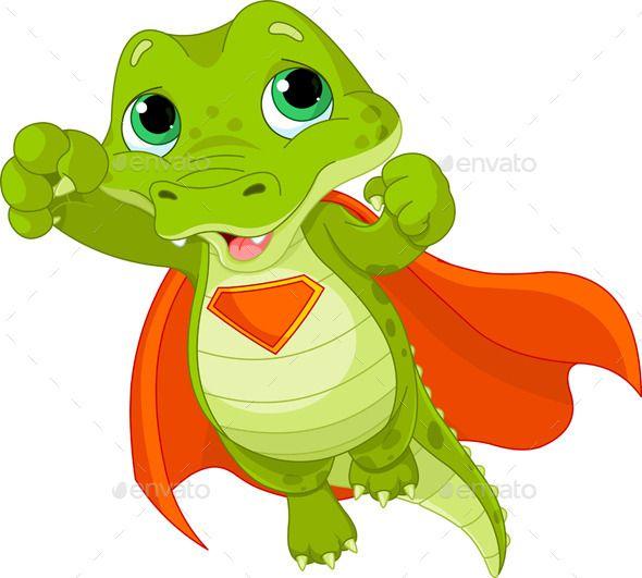 Illustration Of Super Hero Alligator Cat Vector Crocodile Illustration Animal Illustration