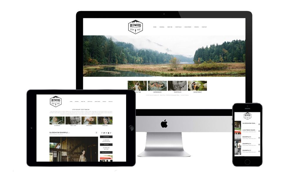 ← PRO PHOTO SITESRedwood is a fully designed site with home page and blog, made simple, minimal, and modern for any photographer. Redwood works across devices and puts focus on your content.This design features:	Custom fonts	Custom social hover buttons	Custom search bar	Custom…