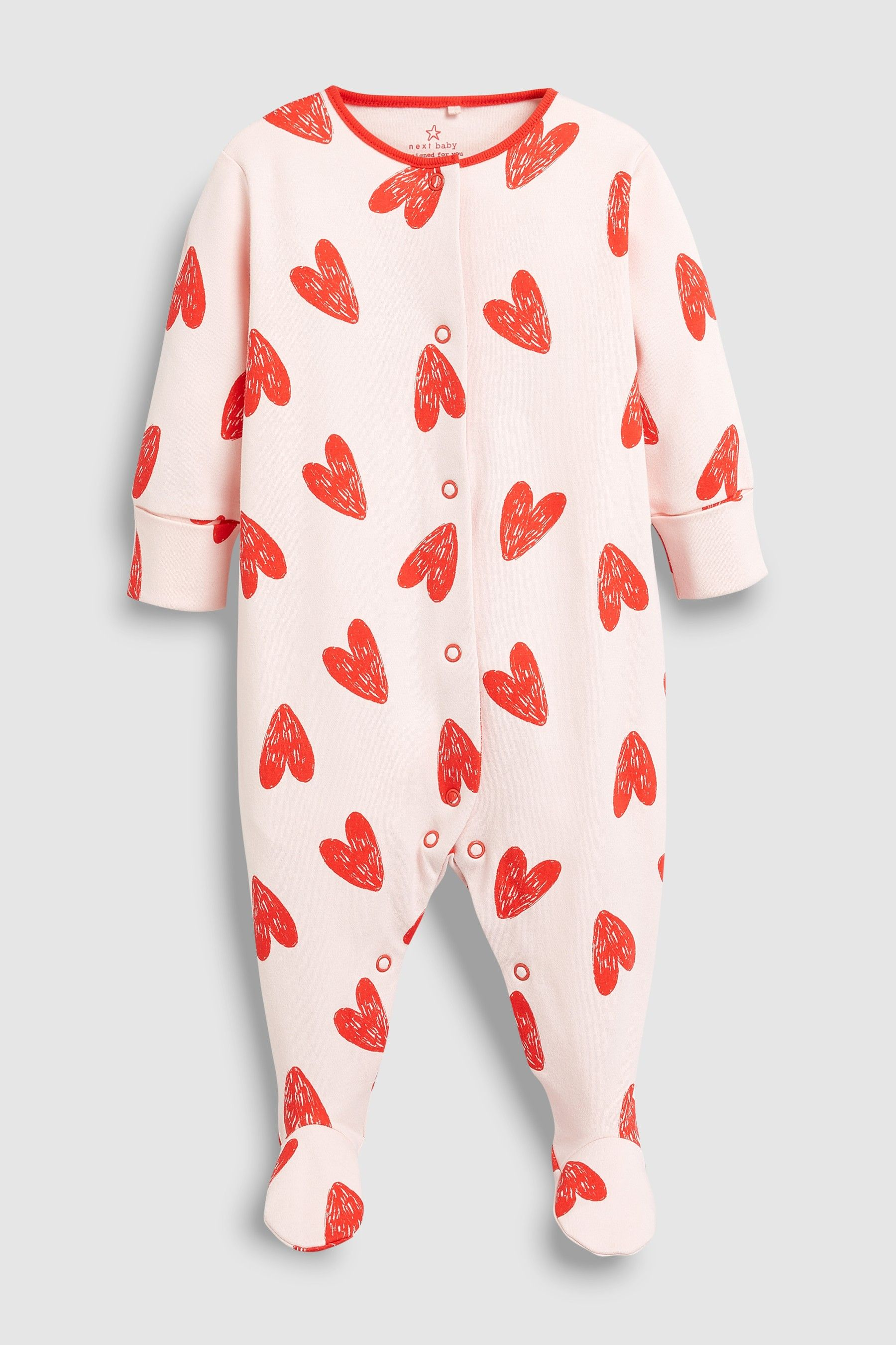 Love Heart Sleepsuit (0mths-2yrs) | Baby girl clothes uk ...