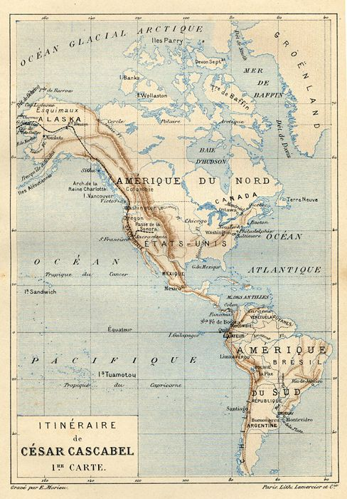 Ckck North And South America Circa 1890 View Art Carte