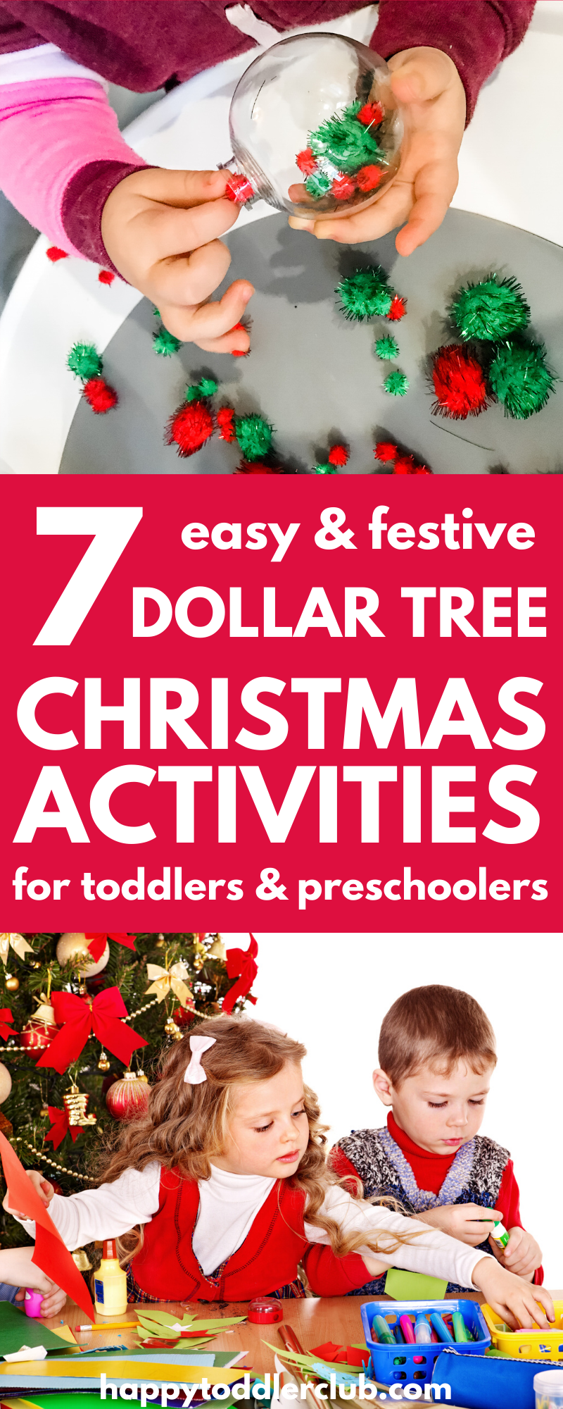 7 Easy Dollar Tree Christmas Activities for Toddlers & Preschoolers
