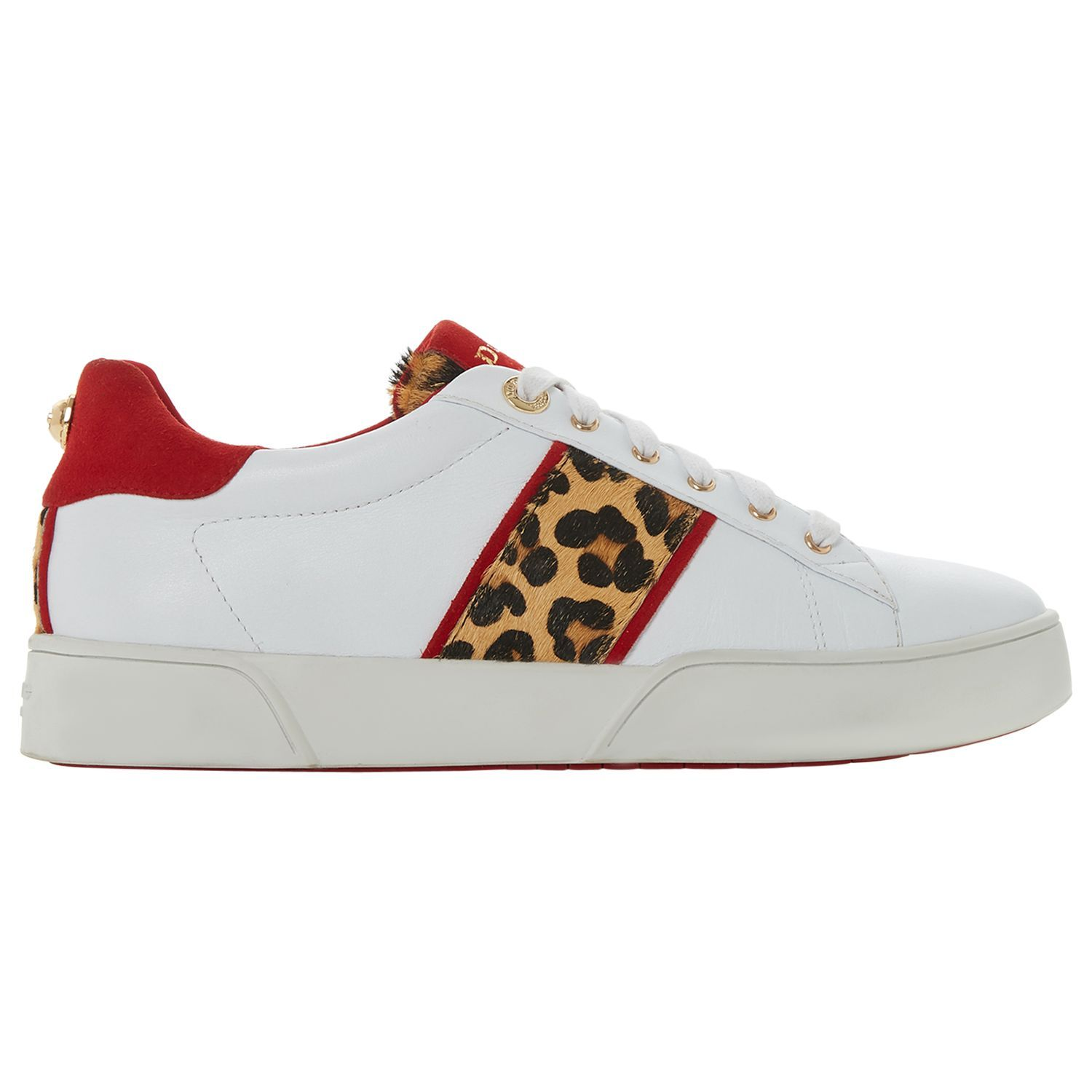 Dune Elsie Lace Up Leather Trainers