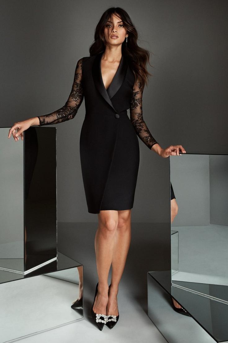 Convidadas in black: 35 looks para quem não dispensa o preto – Vestidos convidadas