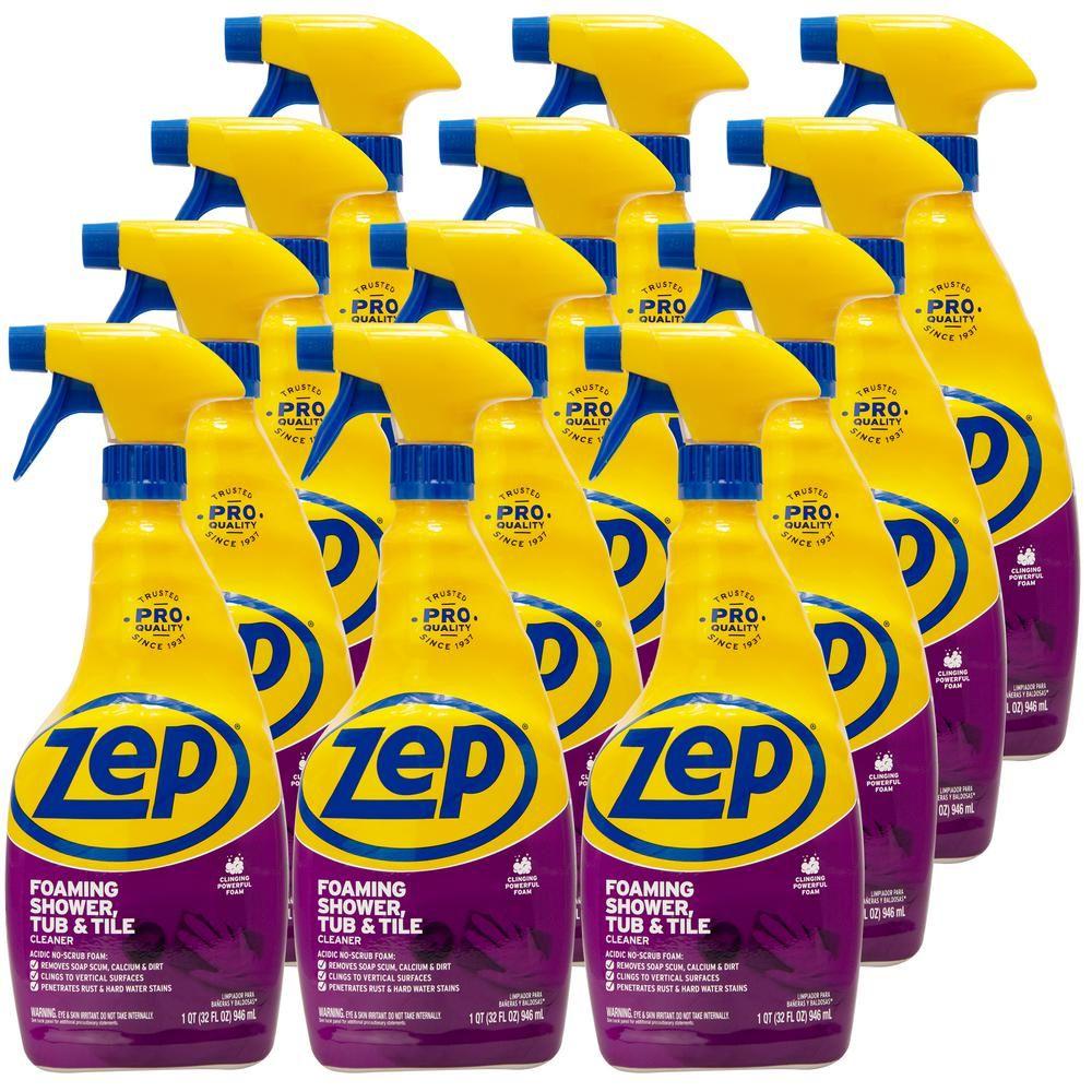 Zep 32 Oz Power Foam Tub And Tile Cleaner Case Of 12 Tub Tile