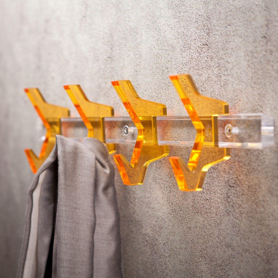 Appendiabito a parete componibile in plexiglass è completo del kit ...