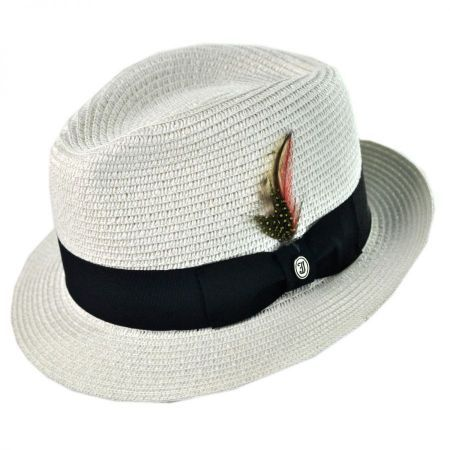 Toyo Straw Braid Trilby Fedora Hat available at  Loehmanns ... f5cead232c7