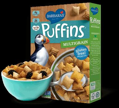Puffins Multigrain Cereal Vegan food list, Food, Gluten