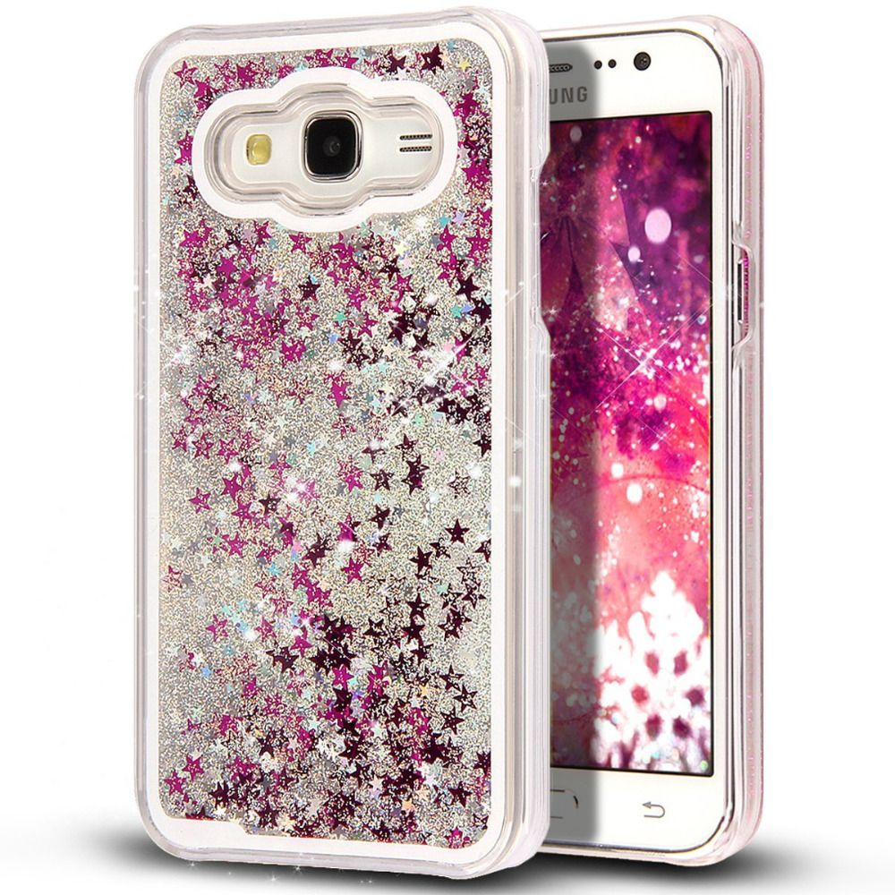 1f0952b8e8f For Samsung Galaxy J5 Clear Cellphone Back Cover Case Dynamic Liquid  Glitter Sand Quicksand Star Plastic