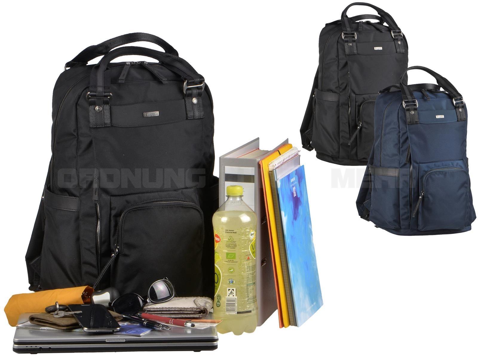 Bugatti CONTRATEMPO - Business Rucksack Notebookrucksack Back Pack - schwarz oder blau 498388