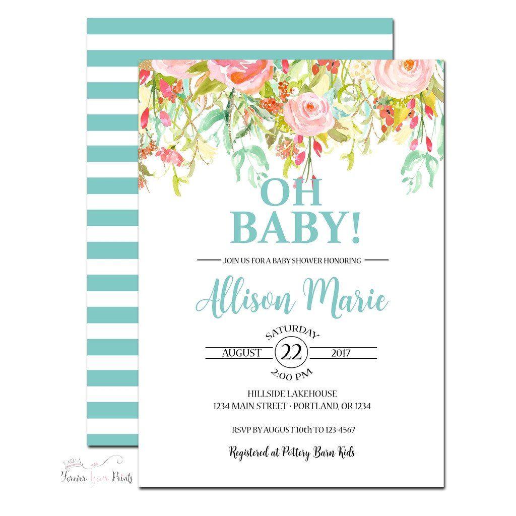 Gender Neutral Baby Shower Invitation www