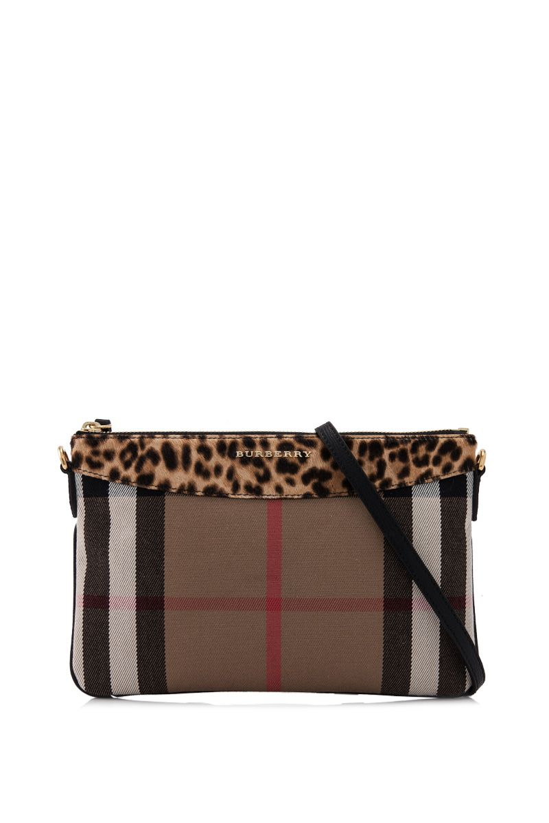 BURBERRY House Check And Calfskin Clutch Bag | REEBONZ THAILAND saved by #ShoppingIS
