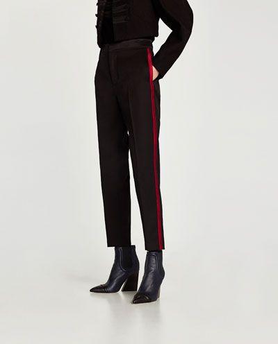 ec3f5b33 Image 2 of TROUSERS WITH SIDE STRIPE from Zara | PANTS | Side stripe ...