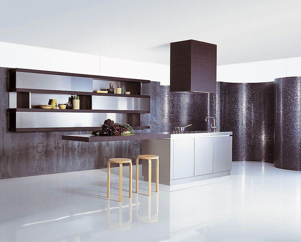 Contemporary Kitchen Interior  Lbkonyhamodern  Pinterest New Contemporary Kitchen Tables 2018