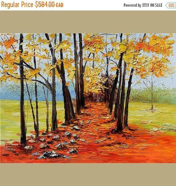 70% de descuento ORIGINAL pintura al óleo Parque callejón