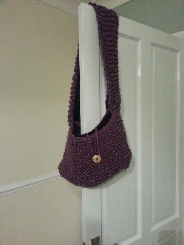 chunky knit over shoulder bag