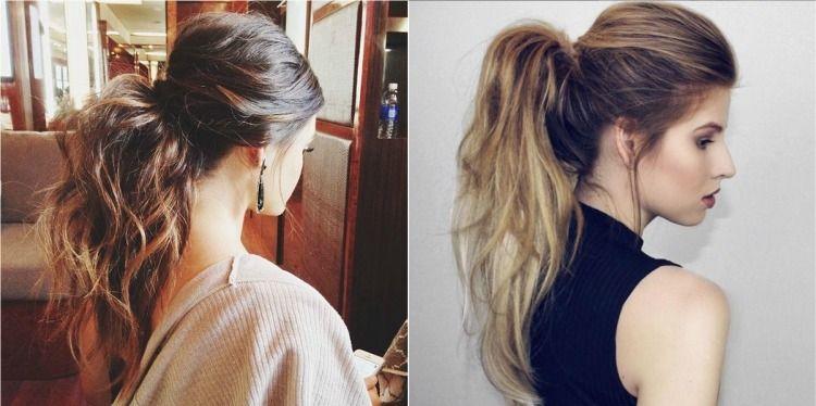 coiffure queue de cheval bombée beaucoup de volume #hairstyles