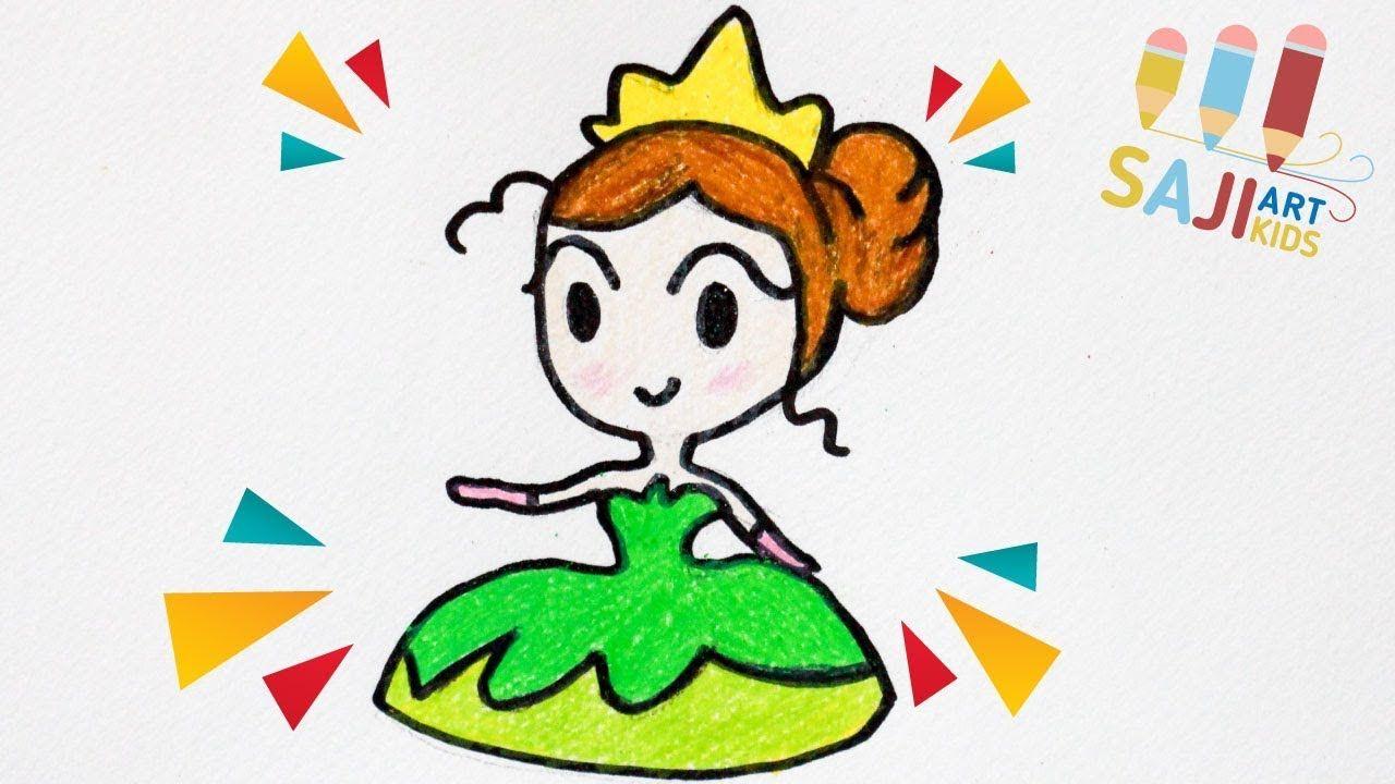 วาดร ปเจ าหญ งเท ยน าง ายๆ วาดร ประบายส ไม สวยๆ How To Draw Princess