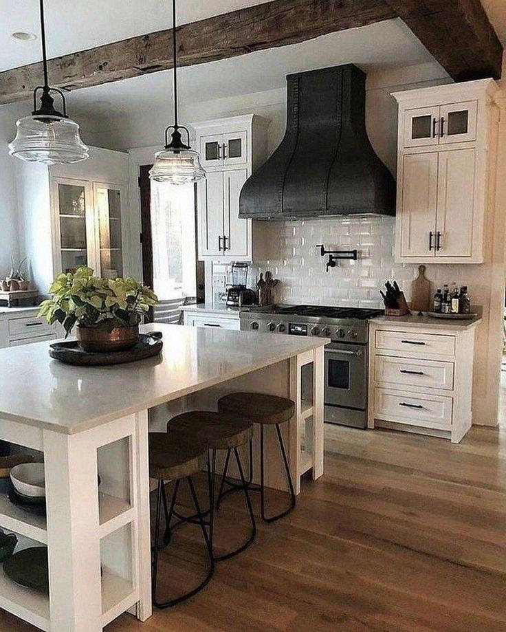 28 Elegante Weisse Kuchen Design Ideen Fur Ein Modernes Zuhause In 2020 White Kitchen Design Farmhouse Kitchen Design Kitchen Island Decor