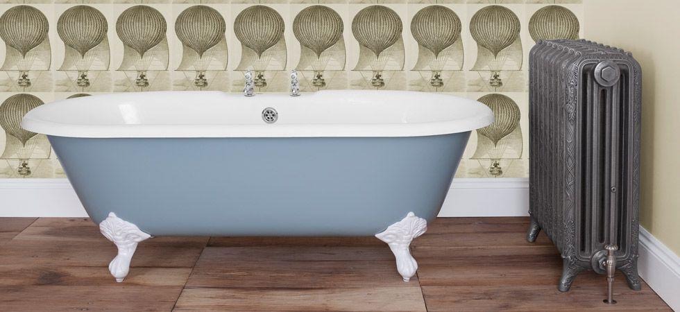 Cast Iron Baths - The Ashby - Painted in Farrow & Ball Lulworth Blue ...