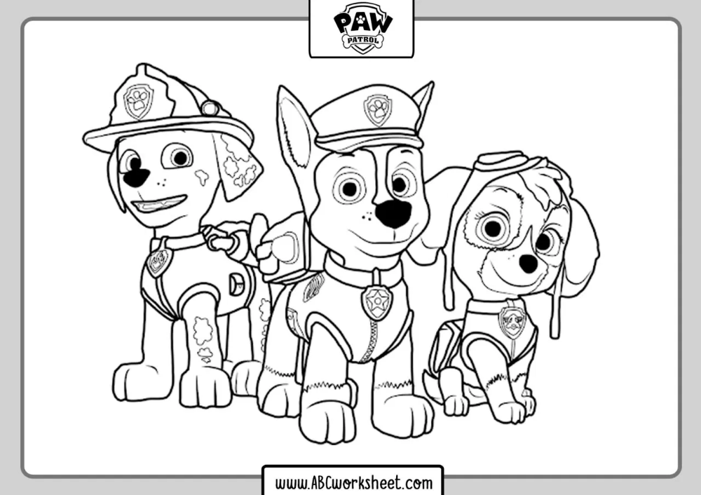Free Paw Patrol Coloring Pages In 2020 Paw Patrol Coloring Paw Patrol Coloring Pages Paw Patrol Printables