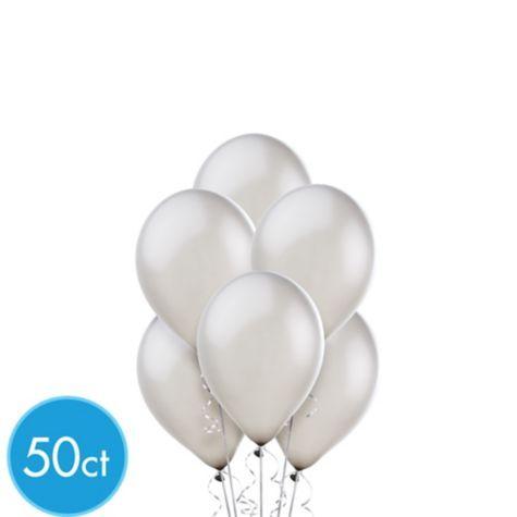 Silver Pearl Mini Balloons 50ct