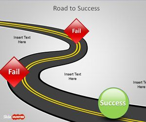 Road to success powerpoint template is an original slide design free road to success powerpoint template is an original slide design with a road illustration and failure milestones reaching the success at the end of the toneelgroepblik Choice Image