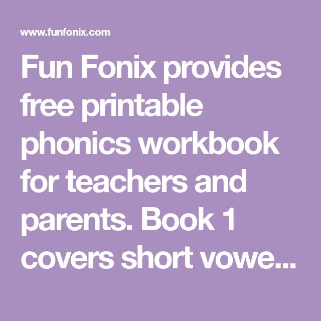 Fun Fonix Provides Free Printable Phonics Workbook For Teachers And