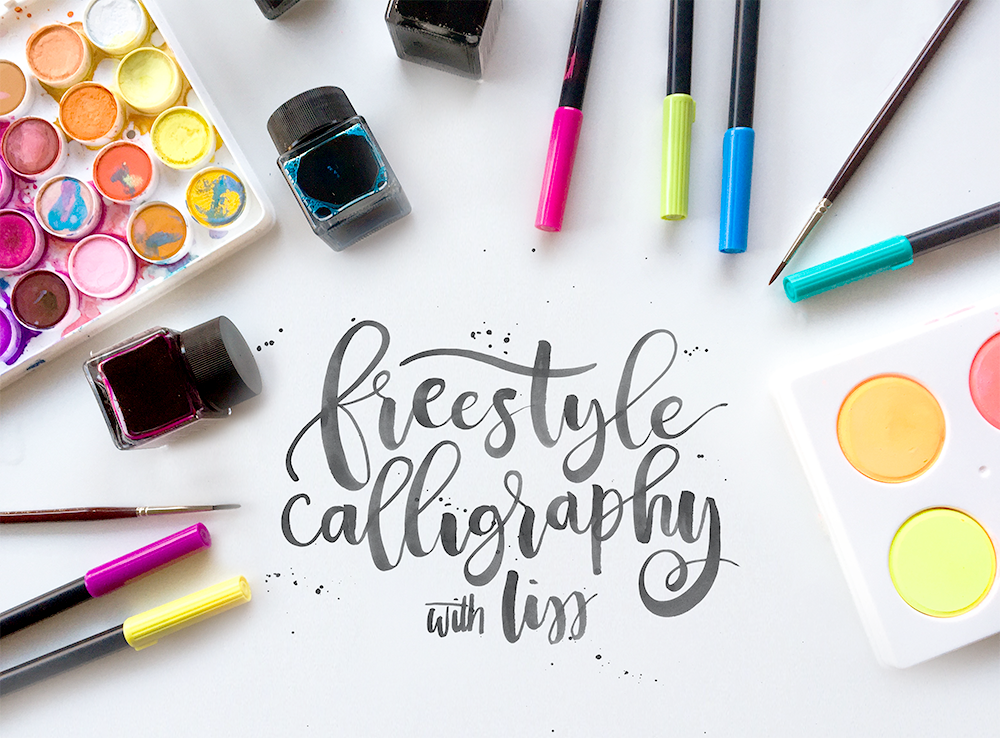 Learn how to do freestyle calligraphy | Hand Lettering