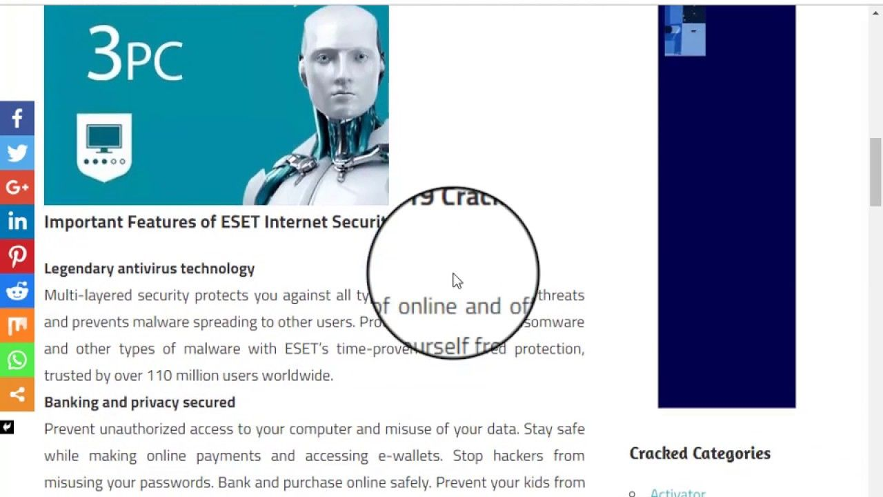 Free ESET Internet Security License Key+Crack Edition 2019