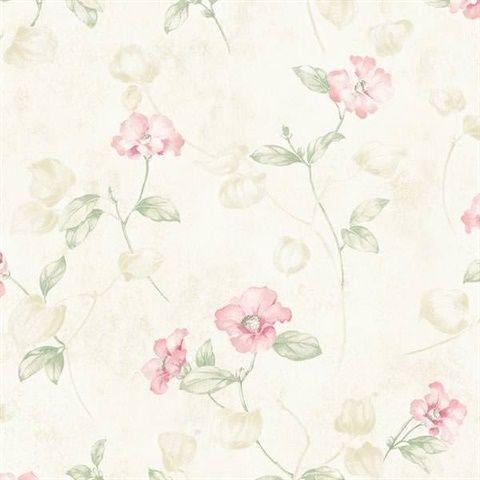 Surrey Pink Petunia Trail MEA79131 Floral wallpaper