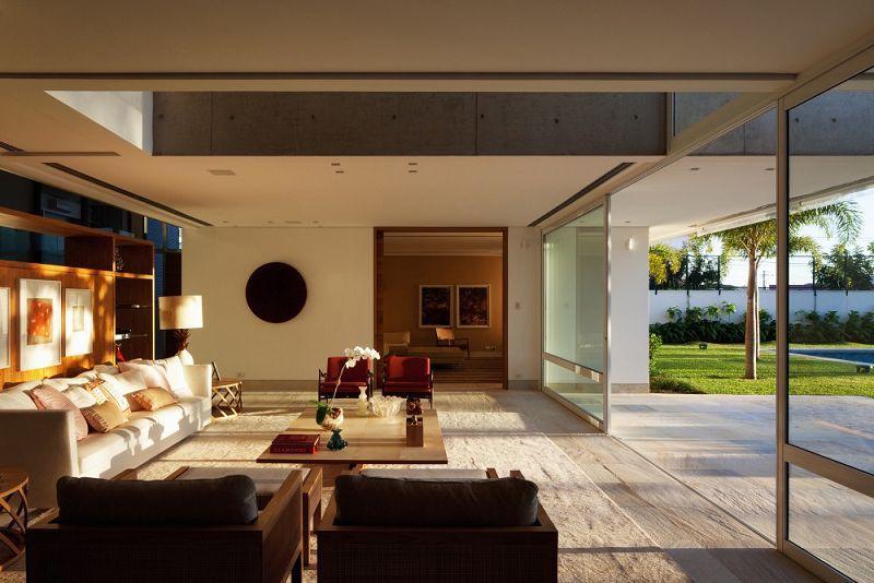 Casas modernas de un piso interior buscar con google for Fachadas de casas interiores