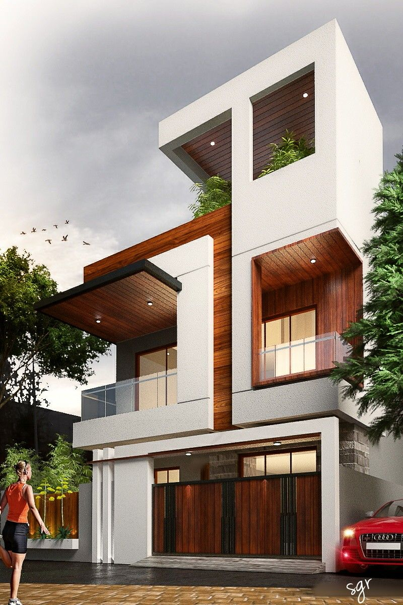 Exterior By Sagar Morkhade Vdraw Architecture 8793196382: #Modern #Residential #House #bungalow #Exterior By, Ar.Sagar Morkhade (Vdraw Architecture) +91