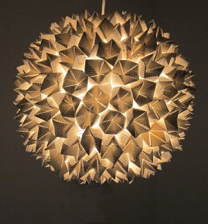 1001 projets diy super cool pour fabriquer un luminaire origami cartonnage pinterest. Black Bedroom Furniture Sets. Home Design Ideas