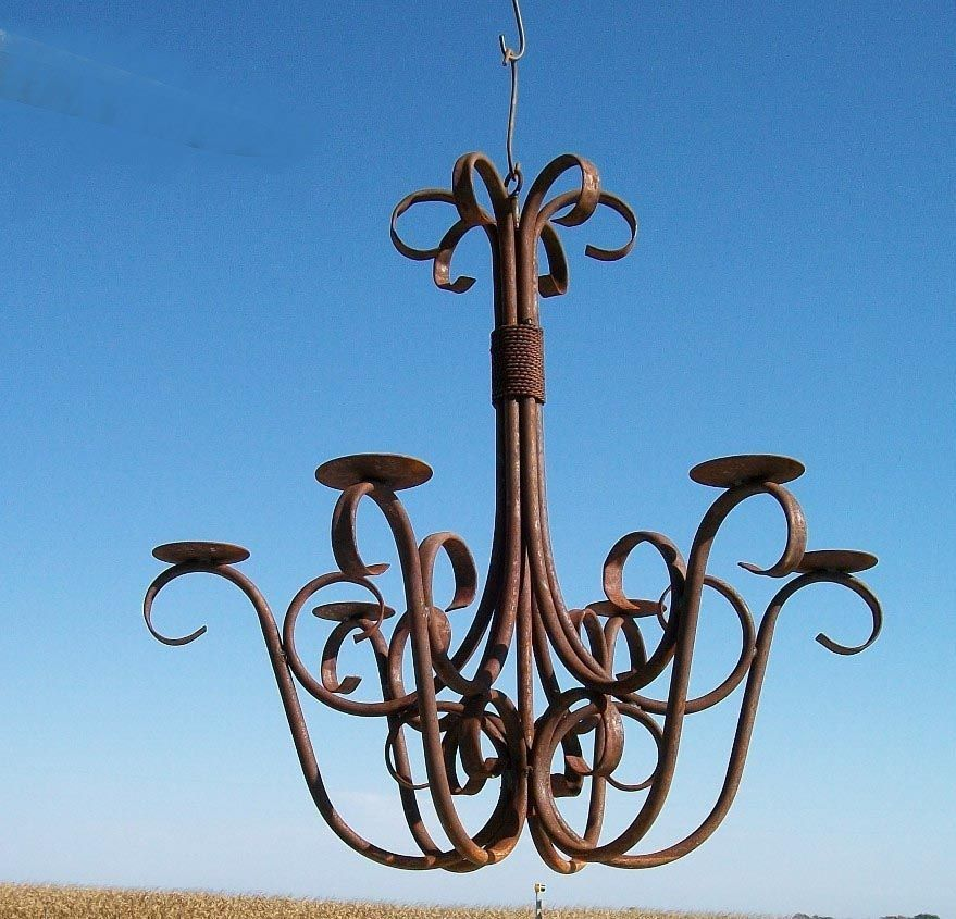 Outdoor Candle Chandeliers Wrought Iron Candle Chandelier