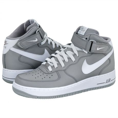 nike air force 1 mid medium grey/white