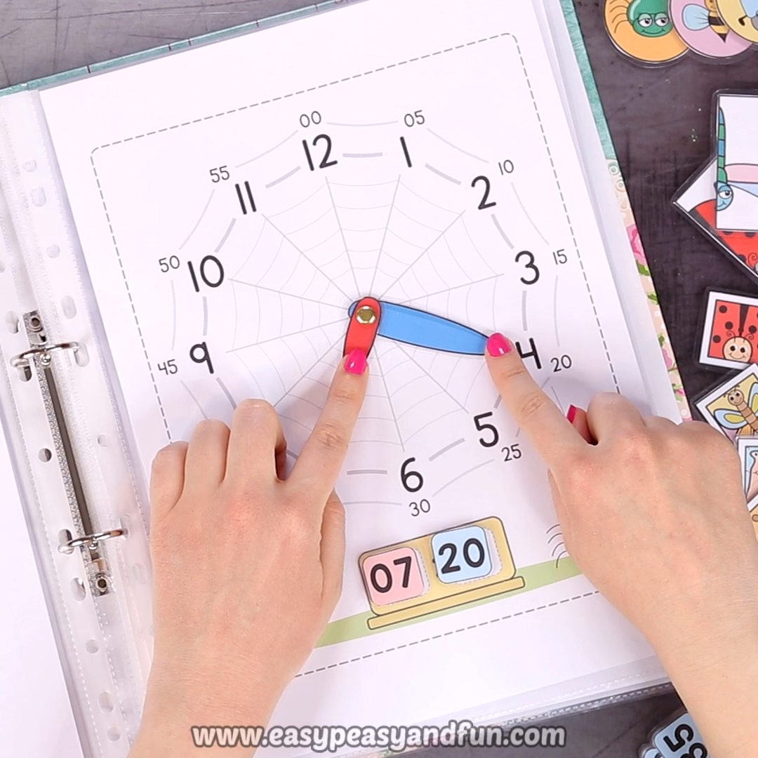 It's time to learn and these cool bugs are here to help. Print out our printable bugs quiet book, a