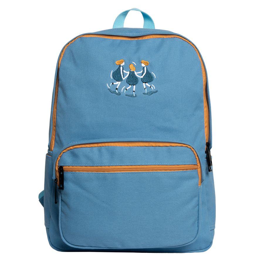 8399582bbd Kiitos Life Fresh canvas embroidery backpacks school in YOUNG series(FUN  KIK store)