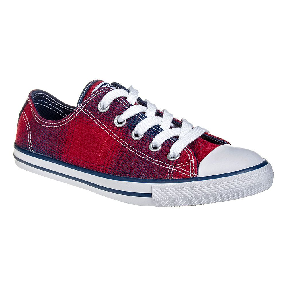33b17cbf85f859 Converse All Stars Dainty Plaid Shoe (Chili Night)