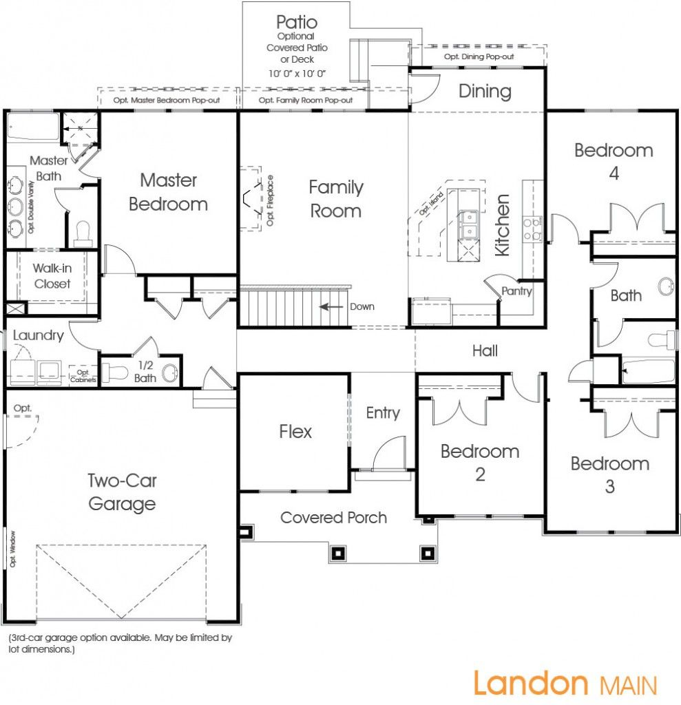 Landon Utah Floor Plan Edge Homes Floor Plans How To Plan Flooring