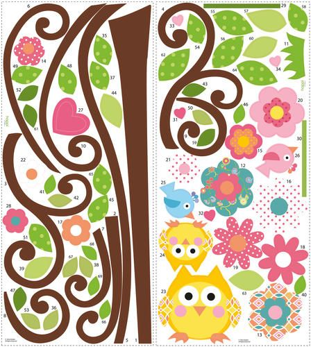 ROOMMATES Scroll Tree Peel Stick Giant Wall Decal at Menards Stuff