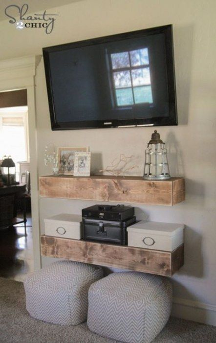 trendy farmhouse tv stand mounted tv 63 ideas farmhouse on incredible tv wall design ideas for living room decor layouts of tv models id=73735