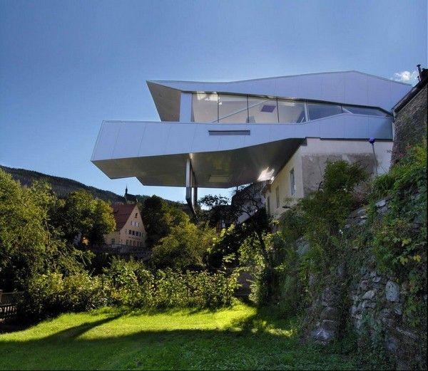 crocodile mouth! Levitating Open Space Bar in Austria by Architektur Steinbacher Thierrichter